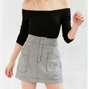 Silence + Noise railroad stripe mini skirt size 4